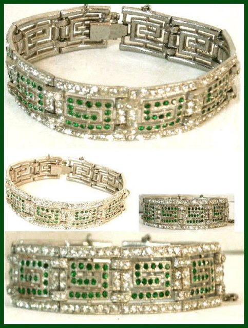 Vintage Deco 450 RS PAVE Bookpiece bracelet