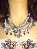 Signed baroque ROBERT GLASS  necklace & ER