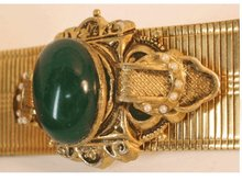 Antique Edwardian Mesh jeweled enamel bracelet