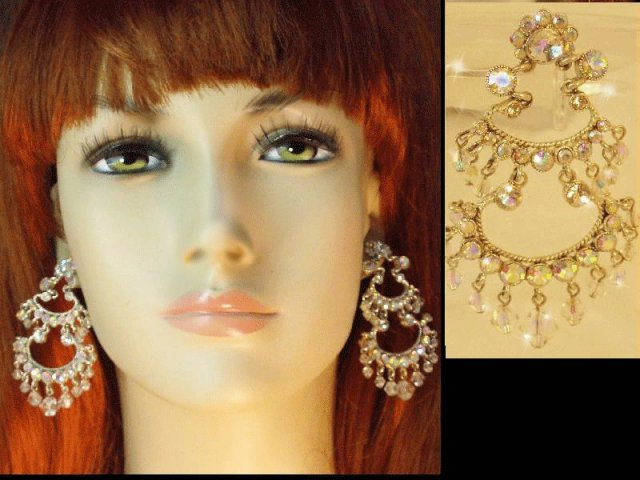 LONG GLITZY DIVA Gypsy chandelier earrings