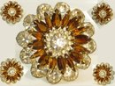Vintage huge layered UNSIGNED beauty Brooch