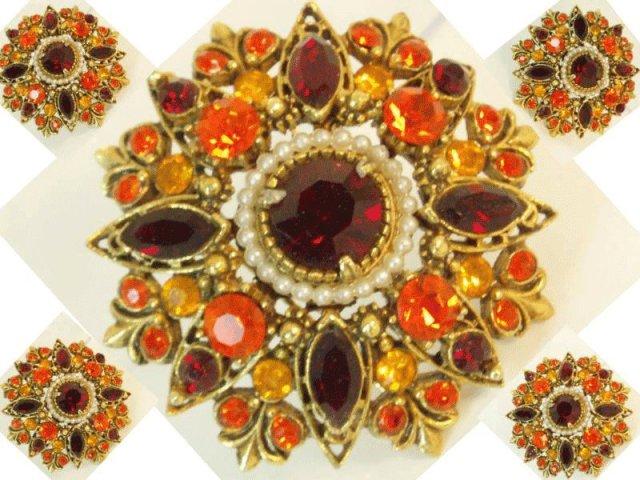 Vintage Signed Florenza extravagant  Brooch