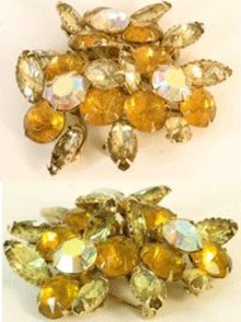 Vintage early Schreiner UNUSUAL design BROOCH