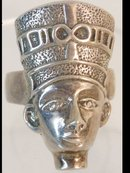 Exotic Egyptian queen head Vintage sterling