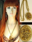 VIntage fancy Edwardian jeweled Locket necklace