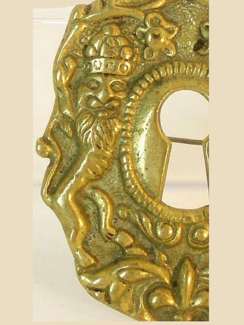 Full Hallmarks SIgned M Rieg renaissance brooch