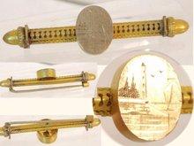 Vintage Victorian figural Mariner Acorn Bar pin