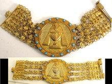Vintage Grand TOUR Egyptian HEAD HUGE bracelet