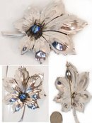 Vintage SIgned Boucher ENamel sterling SPIDER Brooch