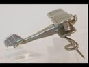 WW11 propeller biplane brooch
