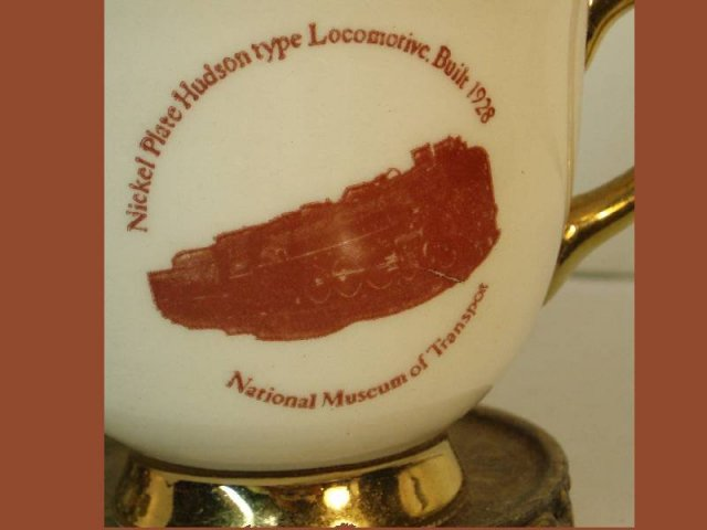 1928 Vintage Nickel plate locomotive demitasse