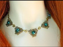 Edwardian Gorgeous Bookchain festoon necklace