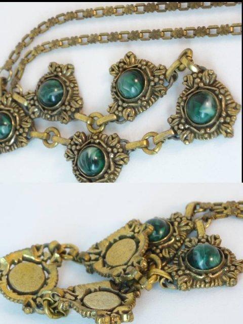 Edwardian Gorgeous Bookchain festoon necklace