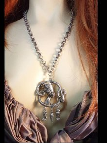 Exotic Egyptian SNAKE Cleopatra LARGE necklace