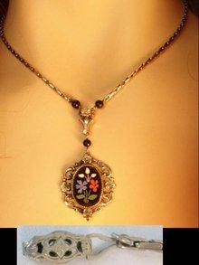 Vintage Victorian Pietra dura Mosaic necklace