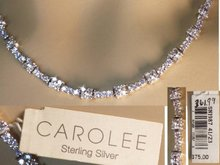 Sterling SIgned LOADED Rhinestone Necklace