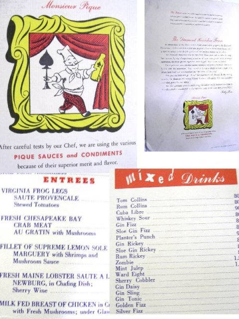 Rare Billy Rose's Diamond Horseshoe 1940's menu