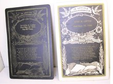Vintage 1800's Death funeral Remembrance Cards Postmortem