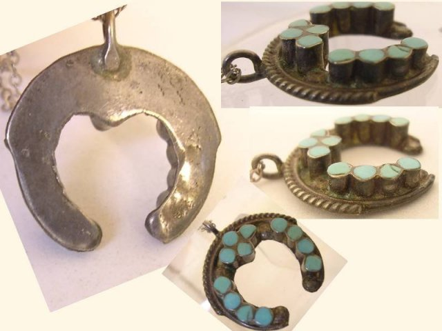 Sterling Turquoise enamel Victorian necklace