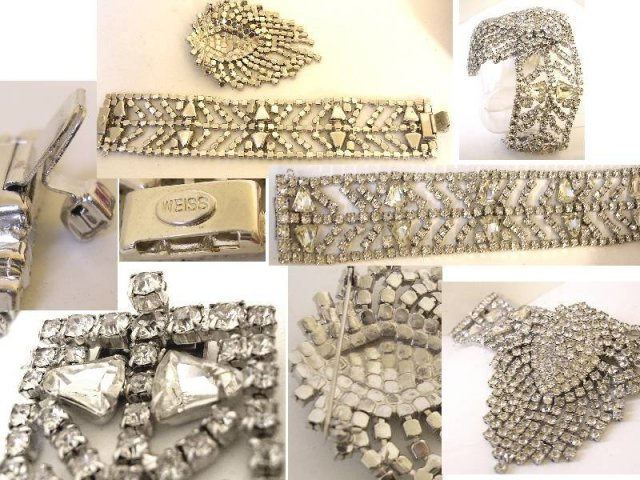 UNusual 2 PIece Weiss Vintage 7 row bracelet