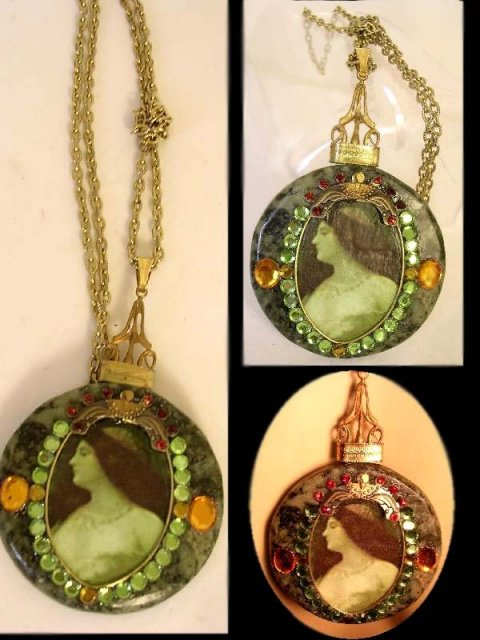 Gorgeous Renaissance  Portrait jewel necklace