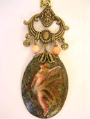 Nouveau Fairy Nymph ANgel Skin COral necklace