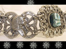 Vintage Egyptian scarab Queen Nefertiti goddess bracelet