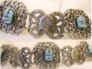 Vintage Egyptian scarab Queen Nefertiti goddess bracelet