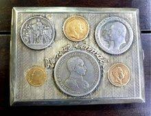 20 MARKS genuine GOLD COIN CIGARETTE CASE