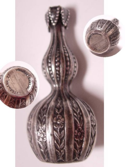 Antique Sterling Victorian hallmarked MINIATURE PERFUME BOTTLE I dream of Jeannie