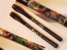 UNusual DECo cherry amber mosaic colored cigarette holders SET