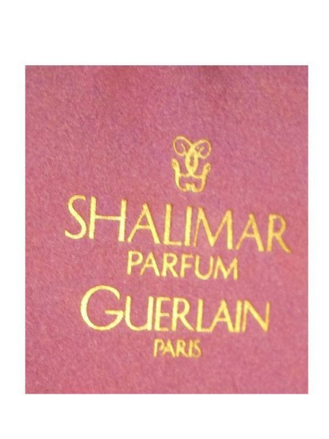 Vintage full Gueralin Shalimar Perfume Bottle and the original Purple Guerlain Box