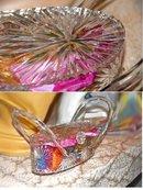Vintage Crystal Clear Wilardy Starburst Lucite Purse