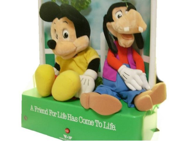 HUGE Vintage ORIGINAL Mickey MOUSE Animated STORE display and Goofy with tapes