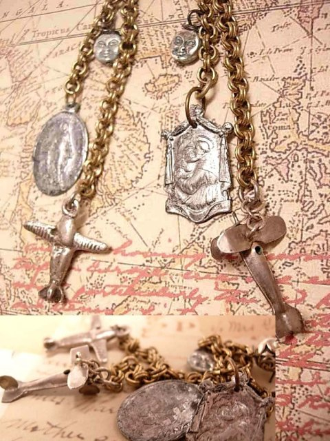 Controlling Lost Souls Earrings MIraculous Mary and St ANthony too