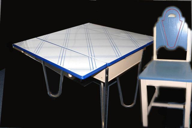 1940's-1950's Enamel-Top Kitchen Table