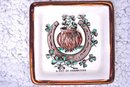 A Pot of Shamrocks Lucky Hand-Painted vintage Dish