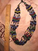 1920's deco Bohemian Florette Multi strand glass necklace hippie or flapper