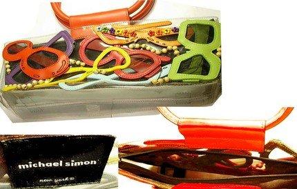 GLAMOUR Queen FUNKY designer Retro Jelly pop art cats eye sunglass purse
