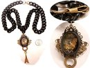 Gothic Last Kiss in Paris morbid macabre memento miniature fob necklace Shrine Reliquary