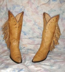 HOT Sexy FRINGED COWBOY BOOTS