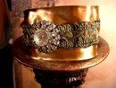 Baroque Paste Rhinestone cuff bracelet