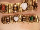 Vintage Art Deco Bookchain Bracelet pearls carnelian and more jewels