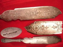 ANtique VIctorian Wedding Cake Knife UNUSUAL Carvings
