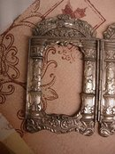 ORnate ANtique Victorian Religious Folding Icon Frame