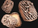 ANtique STerling Box Cherub hidden compartment miniature