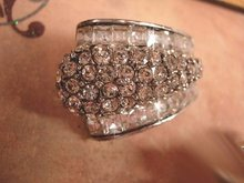 Amazing vintage Drama Queen HUGE rhinestone earrings