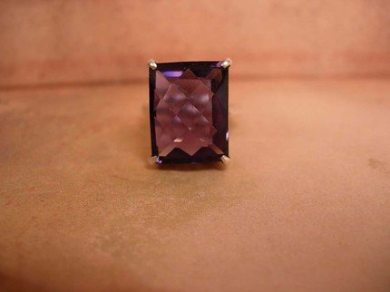 17CT HUGE Amethyst deco setting RING Flashy and Glamorous