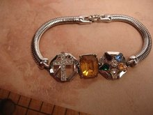 UNUSUAL Double chapter Fraternal bracelet eastern star and white shrine of Jerusalem