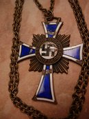 Enamel Cross of Honor of the German Mother NEcklace
